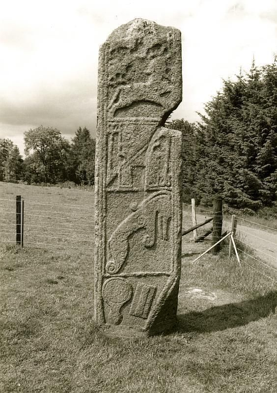 Maiden Stone, a Pictish standing stone in Aberdeenshire, Scotland 9th century A.D.