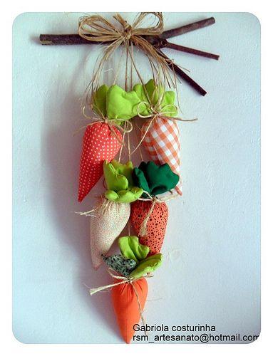 ♥♥ Pendurico de cenouras ♥♥: