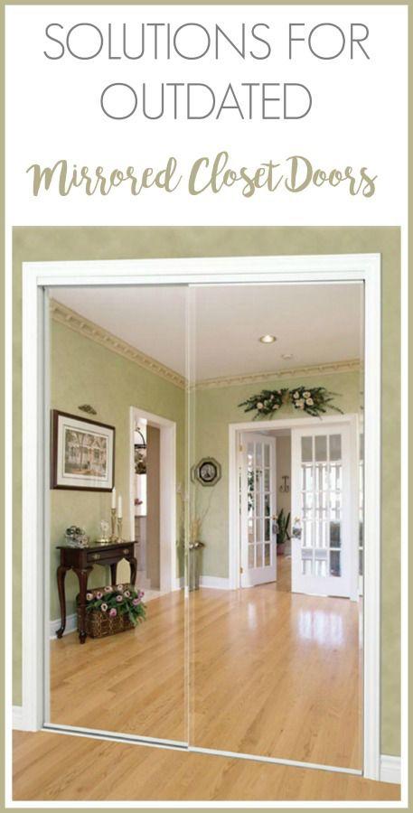 Affordable Solutions For Updating Mirrored Closet Doors In Your Home Mirror Closet Doors Closet Door Alternative Closet Door Makeover