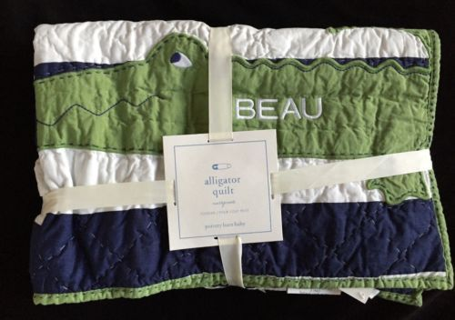 Details About POTTERY BARN KIDS ALLIGATOR MADRAS TODDLER
