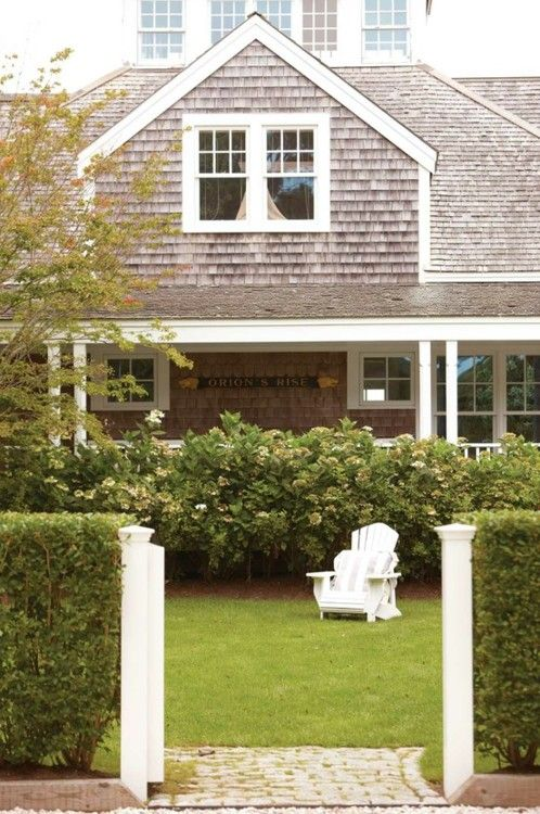 Walkways adirondack chairs and cape cod collegiate on for Nantucket shingle style