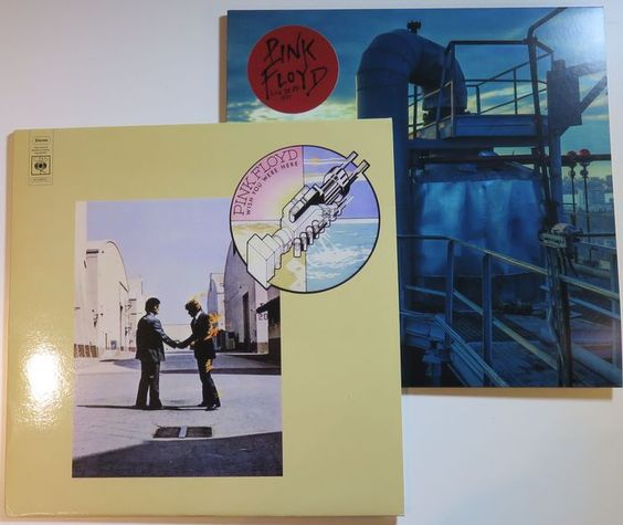 Online veilinghuis Catawiki: Pink Floyd - Great lot of 2 rare, very limited LP's: Wish You Were Here / Live in NYC 1977