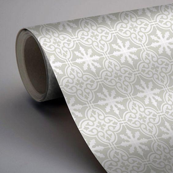 Vinyl Boden Ziegel Fußboden-Aufkleber Sticker von QUADROSTYLE