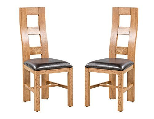 Trithi Furniture Newman Real Solid Oak Dining Chair With