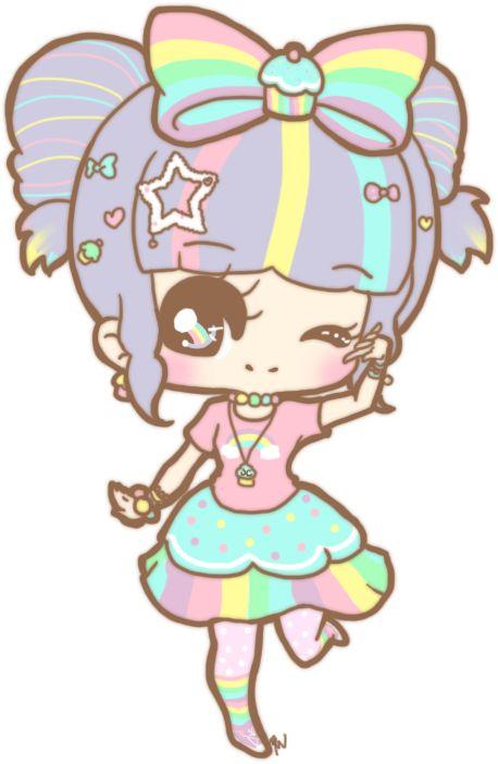 Gallery For gt Anime Rainbow Girl Chibi