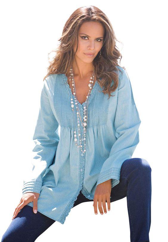 Plus Size Clothing - Fashion for Plus Size women at Roaman's in stonewash