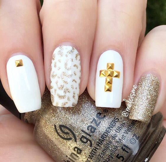 gold-nail-35 - 45 Gold Nails You Wish to Try