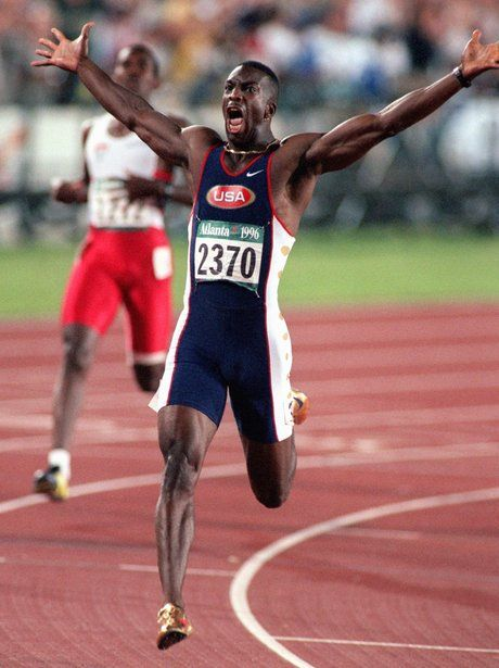 Iconic Olympic moments Michael Johnson wins the 200m
