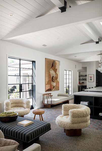 This Art Forward L A Home Nails The Monochromatic Brief House Interior Interior Interior Design