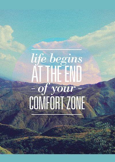 Das Leben beginnt am Ende deiner Komfort-Zone ... Coaching hilft dabei, die…