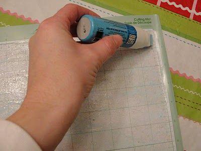 Make cutting mat sticky again