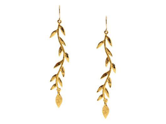Gorjana :: Vine Drop Earrings :: Gold
