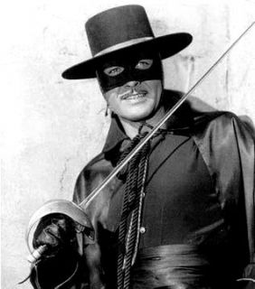 """Zorro TV series 57-59...Guy Williams starred and would play the father of the Robinson clan in """"Lost In Space"""""""
