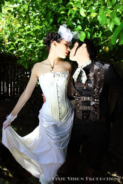 Steampunk dream clothing & accessories from Clockwork Couture: Steampunk Weddings, Couture Wedding Dresses, Bride Steampunk, Clockwork Couture, Couture Offbeatbride, Victorian Dresses