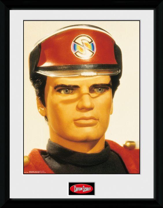 Captain Scarlet -Scarlet - Big Framed Collector Print