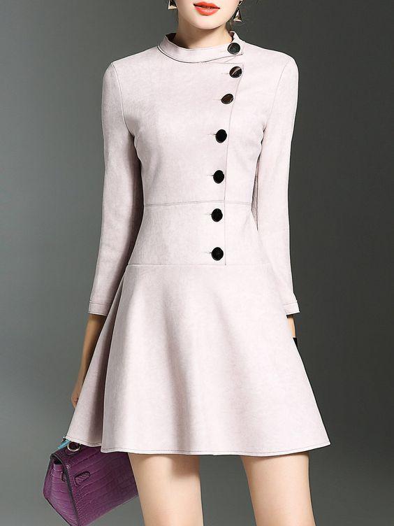 Shop Mini Dresses - 3/4 Sleeve Flounce Elegant Mini Dress online. Discover unique designers fashion at StyleWe.com.