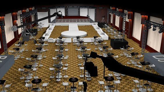 Vista aérea del salón #C4D #3D #Design #diseño