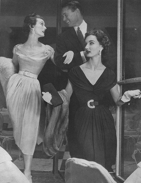 July Vogue 1953 Evelyn Tripp (in black dress)