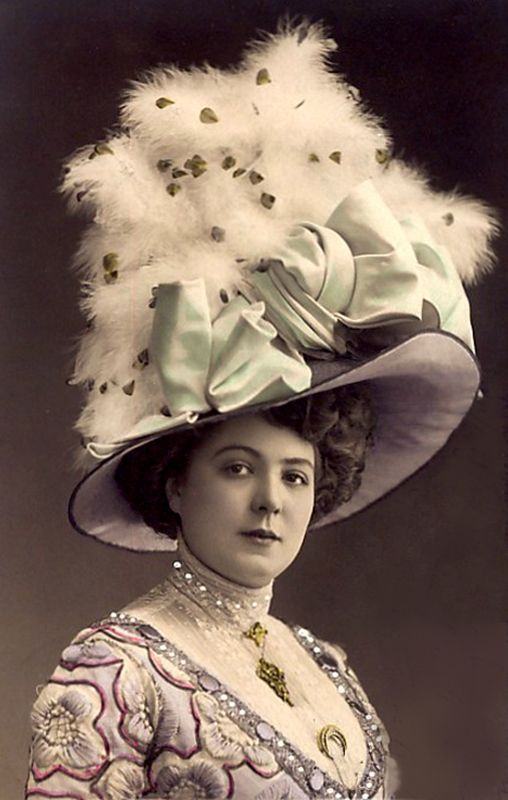 Vintage Picture of Woman with Huge Hat - Free Image: