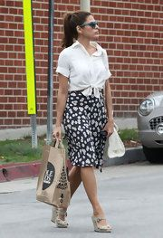 Eva Mendes Knee Length Skirt