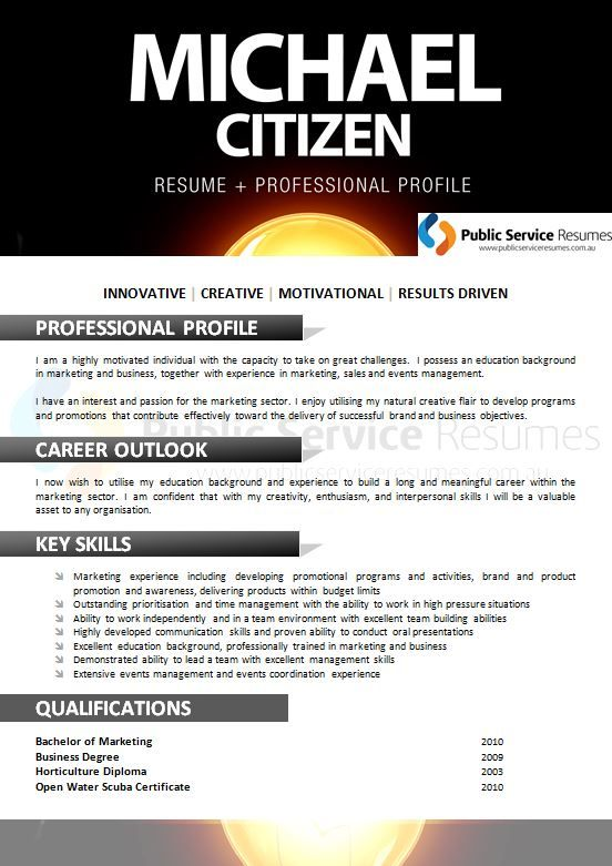 A professional resume can tip the scales in your favour when - career profile resume