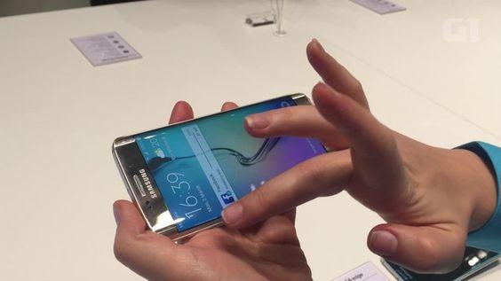 G1 - 'Tela infinita' do novo Galaxy S6 Edge poupa energia; veja outras funções - notícias em Tecnologia e Games
