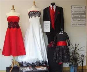 red & black wedding