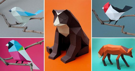 Geometric Paper Birds and Animals by Estudio . Feast your eyes on this phenomenal geometric paper sculpting from Estudio Guardabosques, a multidisciplinary design studio out of Buenos Aires, Argentina consisting of Caro Silvero and Juan Elizalde. The duo have collaborated on numerous papercraft projects for both editorial and artistic purposes.