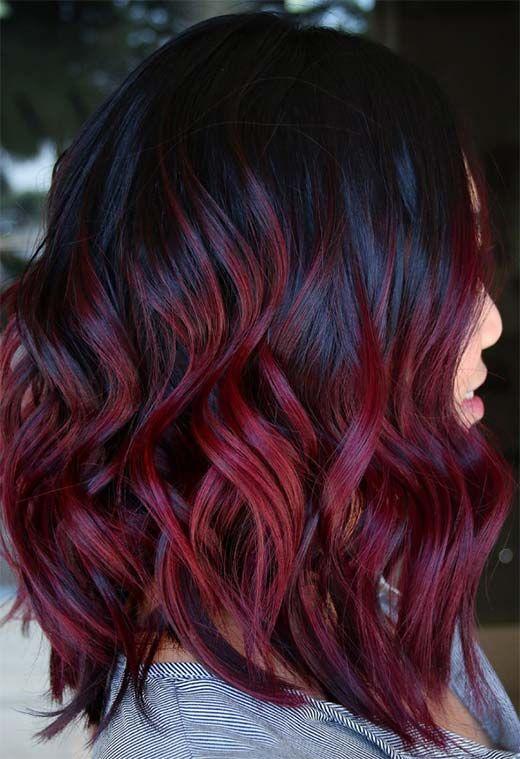 63 Yummy Burgundy Hair Color Ideas Burgundy Hair Dye Tips