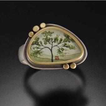 Ananda Khalsa organic spring maple ring.