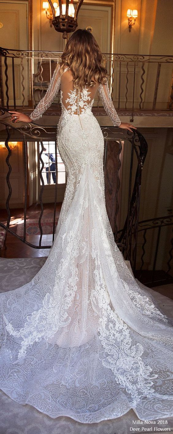 Top Long Sleeves Wedding Dress for 2018