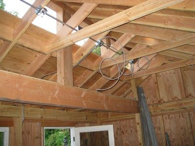 Clerestory window and roof framing garage shop ideas for Clerestory windows cost