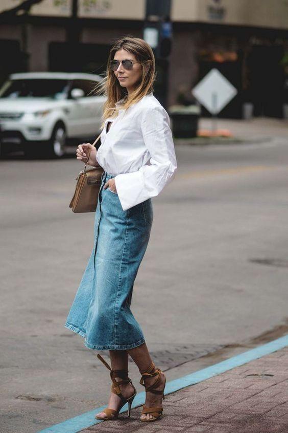 Denim Midi Es De Lo Que No Podemos Prescindir | Cut & Paste – Blog de Moda