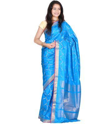 Blue Color Saree | Uppada Silk Handloom Saree