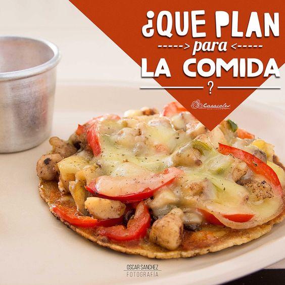 '¿QUE PLAN PARA LA COMIDA DE HOY?' #fotografiaOscarSanchez #pizzaMariscos #pizzaAzteca #caracolesmarisquería #foodphotography