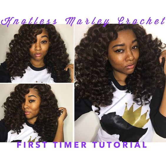 Knotless Marley Crochet Braids [for first timers] YouTube tutorial natural hair protective style @dayelasoul Marley hair