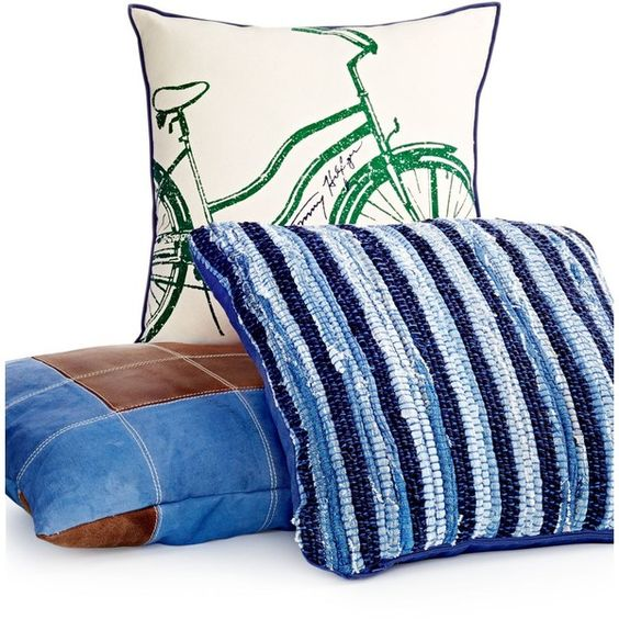 "Tommy Hilfiger 18"" Square Bicycle Decorative Pillow ($30) ❤ liked on Polyvore featuring home, home decor, throw pillows, bike home decor, green throw pillows, green accent pillows, green toss pillows and tommy hilfiger"