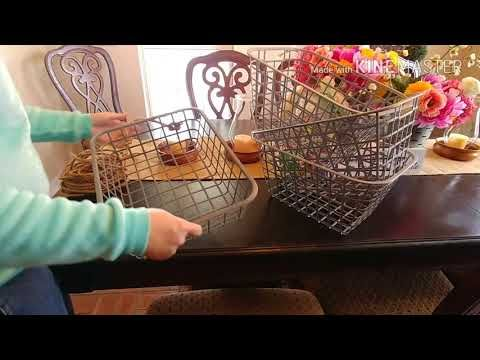 Diy Farmhouse Baskets Using Dollar Tree Items Super Cute And Affordable Youtube Farmhouse Baskets Dollar Store Diy Dollar Tree Decor