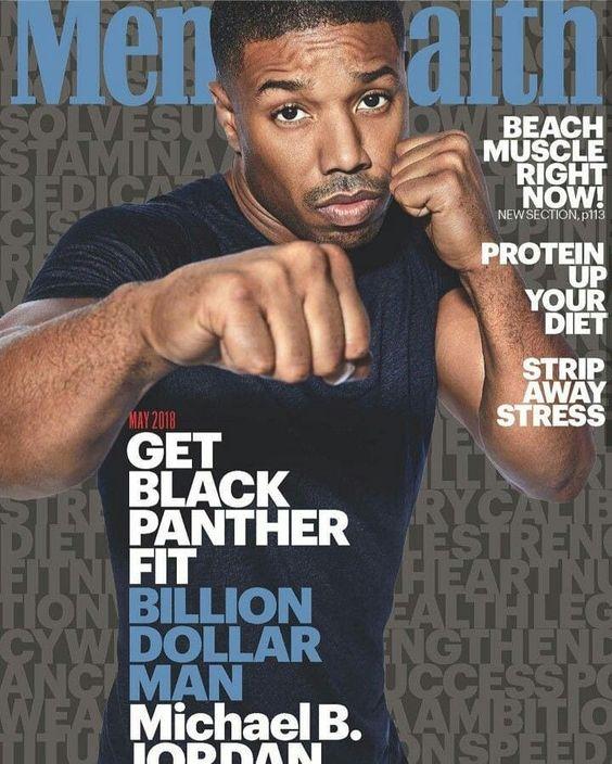 💪🏻 Capa de Revista: A estrela de Black Panther, Michael B. Jordan (@michaelbjordan) é capa da nova edição da Men's Health (@menshealthmag) by Art Streiber