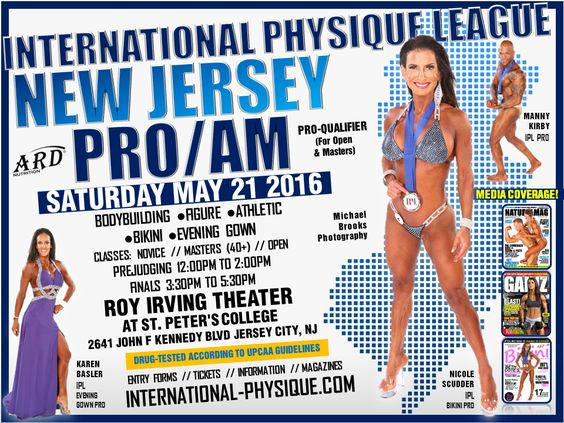 International Physique League New Jersey Pro Am on Saturday May 21, 2016 - where I placed 1st in Masters Bikini