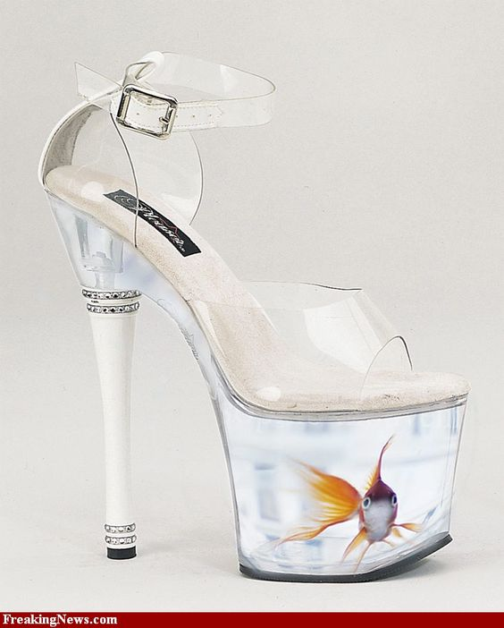 Fish tank heels they have officially run out of ideas for Platform shoes with fish