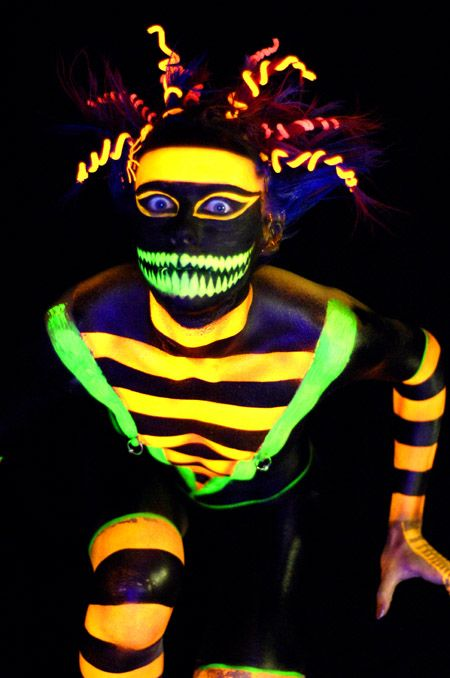 Glow In the Dark Body Paint #neonbodypaint