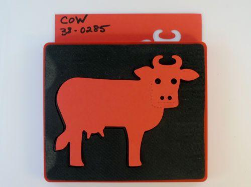 Sizzix Large Red Original Die COW # 38-0285 RARE RETIRED VHTF Farm Animal Bull