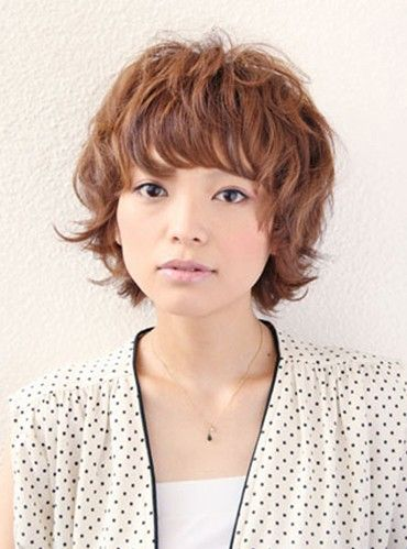 Short Curly Japanese Hairstyles-pin it from carden