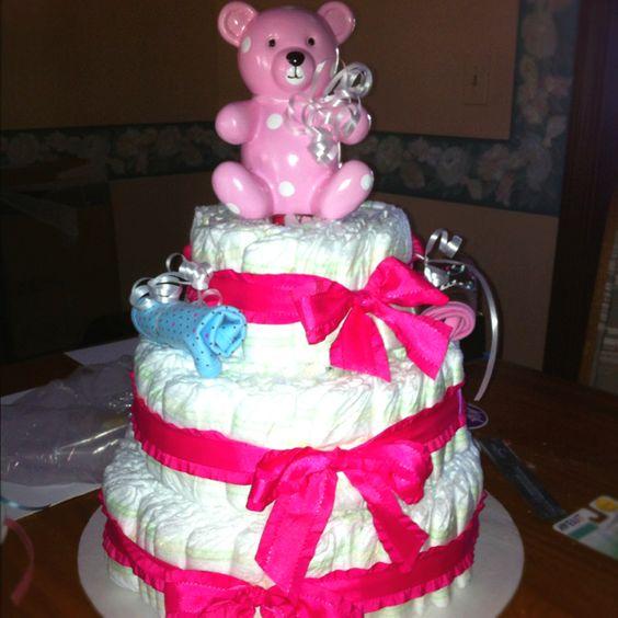 My amazing diaper cake:)
