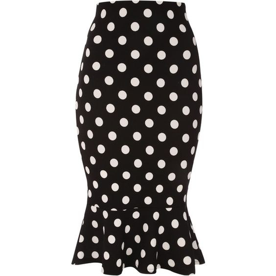 We are dotty about hems this season. This gorgeous skirt features a figure hugging fit, trumpet hem and black and white polkadot print. Work it with a cropped …