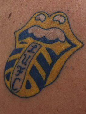 Stones leeds united tattoo rolling stones pinterest for Leeds united tattoos
