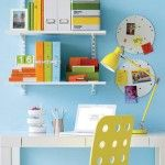 #home_office bright blue wall