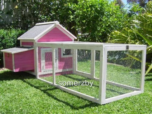 Chicken coop somerzby pink cottage rabbit hutch guinea pig for Guinea pig outdoor run plans