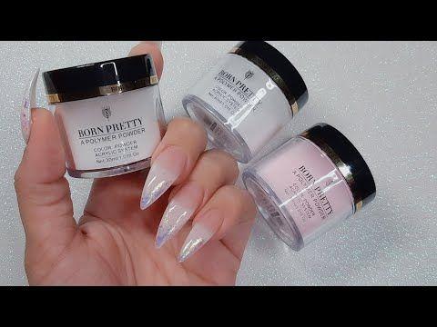 Acrylic Polymer Powder Nails From Amazon Youtube In 2020 Powder Nails Acrylic Powder Polymer